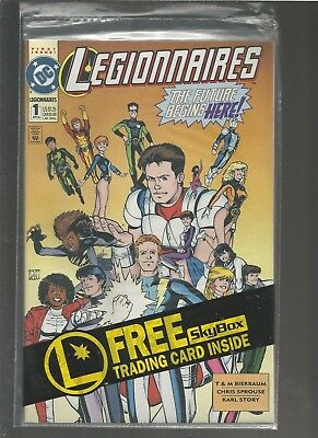 LEGIONNAIRES #1NM, 1993, DC, POLYBAGGED SEALED with COMPUTO CARD COMBINE SHIP