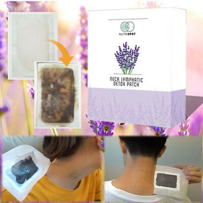 Nutrispot Neck Lymphatic Detox Patch Anti-Swelling Herbal Lymph Pads Foot Patch£