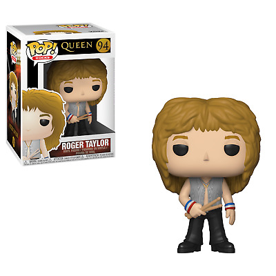 Funko POP! Rocks Queen ROGER TAYLOR #94 Free Fast Shipping New In Hand