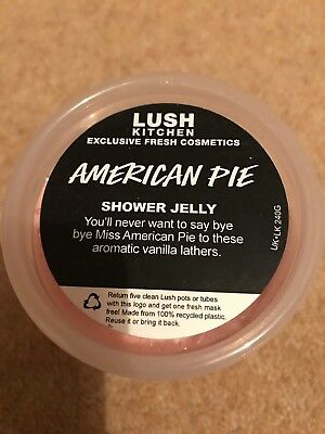 Lush American Pie shower jelly - use by 10/9/18 - tiny bit used