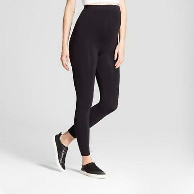 Isabel Maternity by Ingrid & Isabel Black Seamless Belly Leggings Black M/L