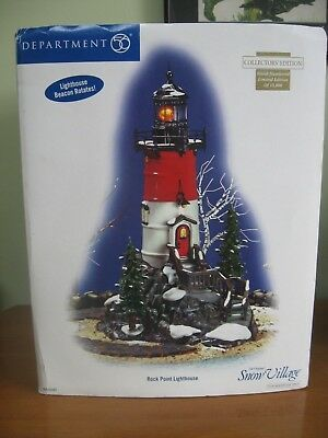 "Snow Village ""Rock Point Lighthouse"" Department 56 MIB"