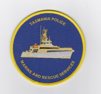 Tasmania Police Marine and Rescue Service Woven Style Patch (social)