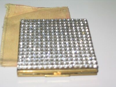 1950s Mid Cemtury WIESNER Rhinestone Compact Excellent!