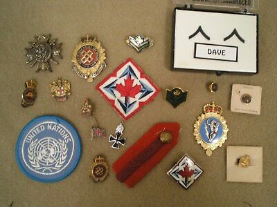 WW2 to 1980s Canadian & US Military & Miscellaneous Badges & Insignia Grouping