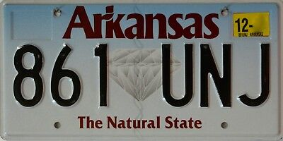 "USA Number Licence Plate ARKANSAS  THE NATURAL STATE  ""DIAMOND"""