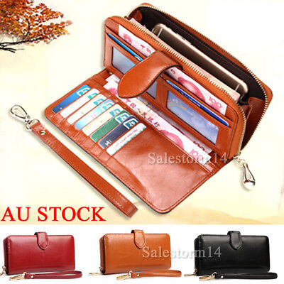 Women PU Leather Long Wallet Zip Purse Card Phone Holder Case Clutch Handbag NEW