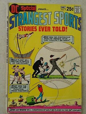 Strangest Sports Stories Ever Told Comic #9 Oct-Dec 1970, Dc Special, Very Clean