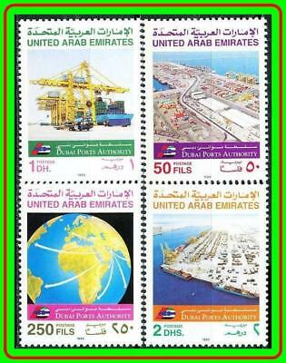 United Arab Emirates (Uae) 1992 Ports Sc#433-36 Mnh Ships, Transport