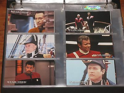Star Trek Generations Cinema Collection Collectible Trading Cards Binder SkyBox