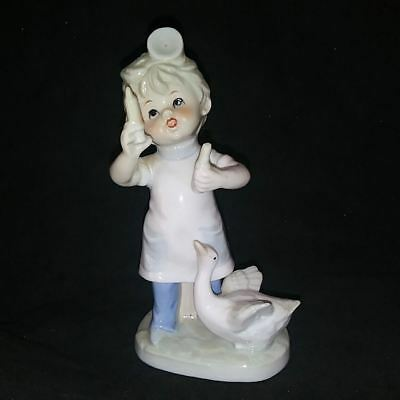 Lladro-like Porcelain Figurine  Young Boy THE DOCTOR Hammersmith Farm
