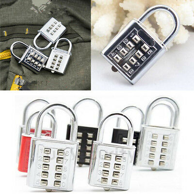 1Pcs Padlock Luggage Travel Number 8 Digit Combination Code Lock Push Button
