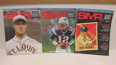3 NEW Sports Market Report Magazines SMR Mar Apr May 2017 Sisler Hobbs Brady