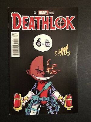 Deathlok #1 BABY VARIANT SIGNED BY SKOTTIE YOUNG VF/VF+