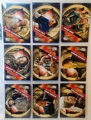 Topps DOCTOR WHO Timeless - HISTORICAL FIGURES Complete 12 Card Chase Set 2016