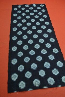 QA67/65 Vintage Japanese Fabric Cotton Antique Boro Patch Indigo Blue KASURI 35""