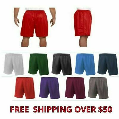 "A4 Adult Men's Lined Mesh 9"" Inseam Athletic Gym Shorts 9 Colors XS-4XL N5296"