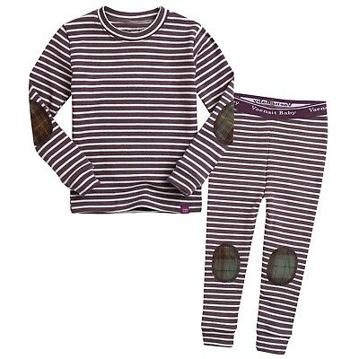 "Vaenait Baby Clothes Toddler Girs Sleepwear Pajama set""Crayon Grape"" S(2T)"