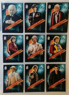 Topps DOCTOR WHO Timeless - DOCTORS ACROSS TIME Complete 10 Card Chase Set 2016