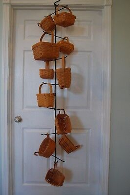 Amish Hand Made Wrought Iron Hanging Hanger For 15 Larger Longaberger Baskets