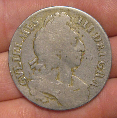 Great Britain - 1696 Large Silver Crown