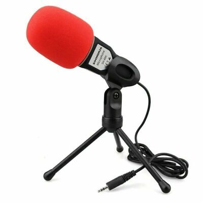 Pro Condenser Sound Voice Podcast Studio Microphone For Camputer PC Laptop