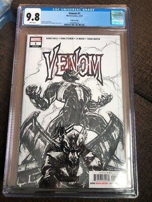 Venom #1 (2018) CGC 9.8 5th Printing Rare Sketch Cover Donny Cates Ryan Stegman