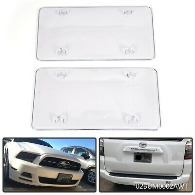 Clear Flat Plastic Auto License Plate Shield Protector Cover .060 Gauge Thick 2