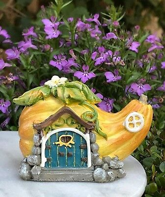 Miniature Dollhouse FAIRY GARDEN Figurine ~ Mini Squash Gourd Cottage House