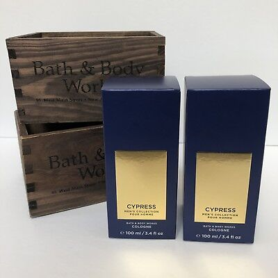 2 X Bath And Body Works Cypress Cologne ~new!~