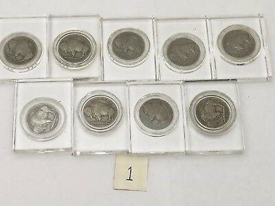 Buffalo Nickel Lot of 9 Indian Head Nickels 1937 36 35 34 30 29 28 27 1925 Phili