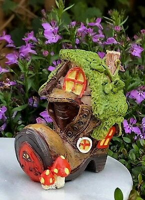 Miniature Dollhouse FAIRY GARDEN Figurine ~ Mini Enchanted Shoe Cottage House