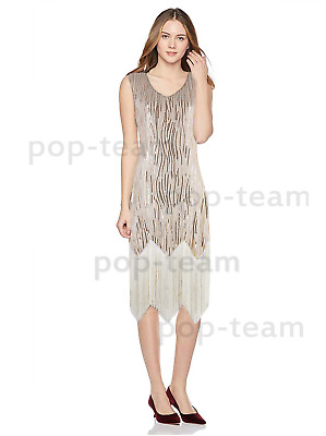 1920s Flapper Dress Gatsby Wedding Party Vintage Beaded Sequin Evening Cocktail