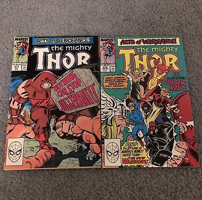 The Mighty Thor #412 & 411 Marvel Comics 1St Full Appearance Of The New Warriors