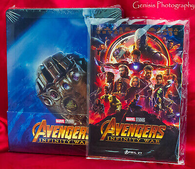 Avengers: Infinito War 3D Steelbook Blu-Ray Import Region Free + Art Cards