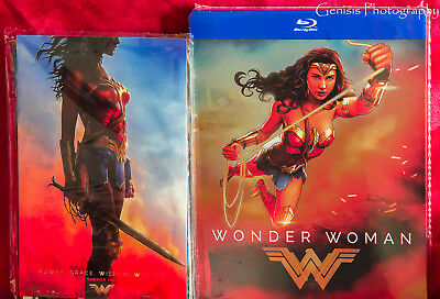 Wonder Woman Esclusivo Edizione Limitata Blu-Ray Steelbook + Bonus Marvel Art