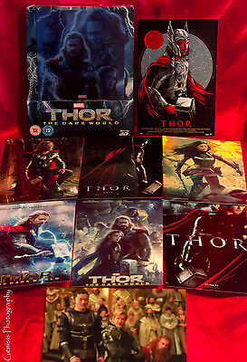 Thor The Dark World 3D+2D Blu-Ray Zavvi Lenticular Caja Metálica + Art Tarjetas