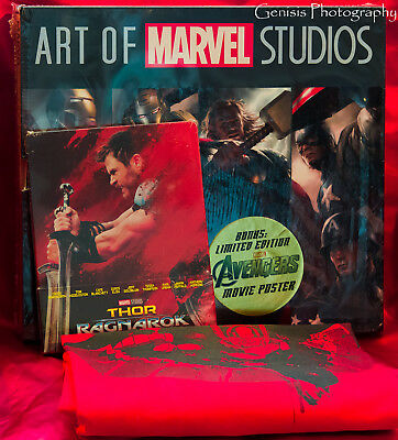 Thor: Ragnarok Steelbook (3D / Blu-Ray + Art Of Marvel Studios Libri Set +