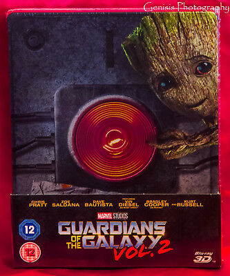 Guardians Of The Galaxy Vol.2 3d & 2d Caja Metálica Zavvi Edición + Marvel Art