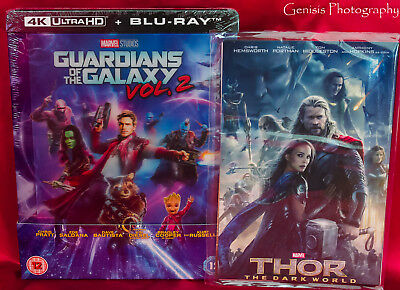 Guardians Of The Galaxy Vol.2 4k Zavvi Lenticular Caja Metálica + Art Tarjetas