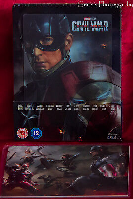 Captain America: Civil War Ultimate Lenticolare Steelbook + Art Figurine +