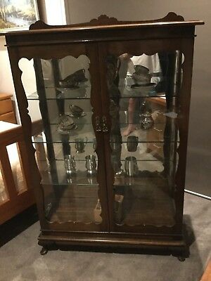 Queen Anne Crystal Display Cabinet