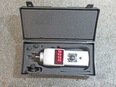 """Shimpo DT-107a Contact Digital Tachmometer / Distance with 6"""" Wheel"""