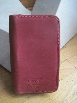 Authentic Coach Leatherware Portfolio Notebook Organizer Checkbook ~RED~