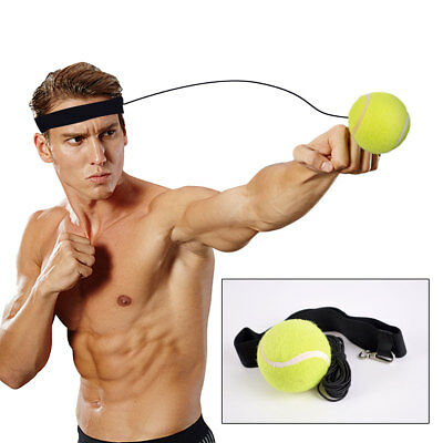 Boxing Exercise Fight Ball Punch With Head Band Reflex Speed Muscle Training C
