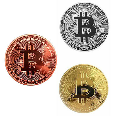 Double Sided Embossing Round Bitcoin Commemorative Coin Collection Souvenir CAL