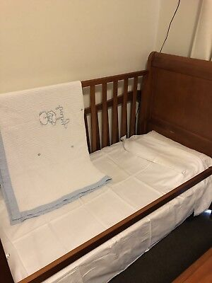 Bruin Roma Sleigh 3 In 1 Cot With Mattress And Much More- in Excellent Condition