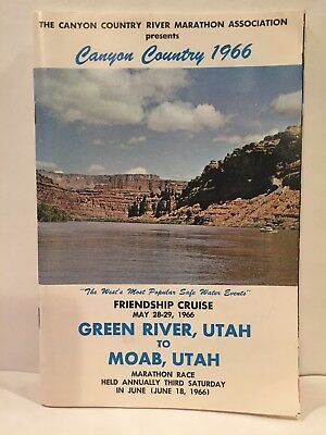 1966 Canyon Country River Marathon Association Green River to Moab Utah Booklet