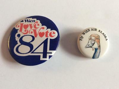 Airlines  -  Wien Airlines  two vintage buttons