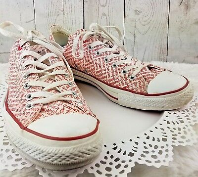 6c596eb08bf10f Rare CONVERSE Chuck Taylor All Star Red Edition Low Unisex Trainers Shoes 11  M